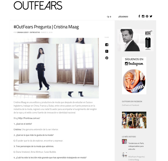 Front Row Fashion Blog in Outfears