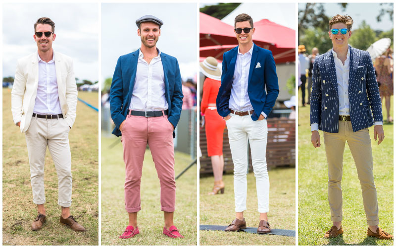 Chinos polo front row
